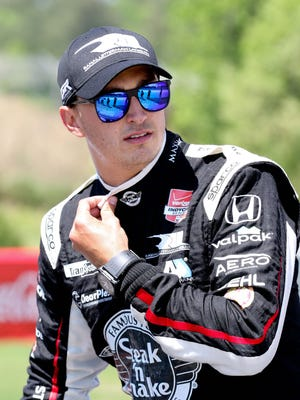 Graham Rahal's performance in Alabama prompted David Letterman to hand out milkshakes.