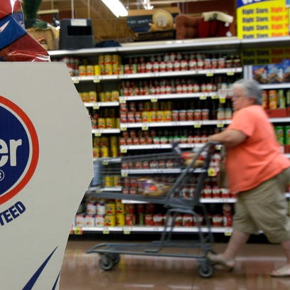 Supermarket prices were down 2.2% in September from