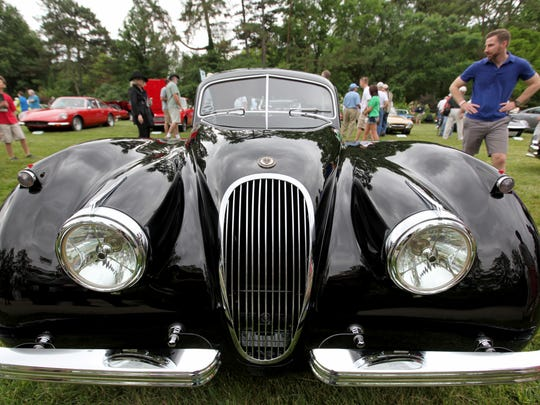 A 1953 Jaguar XK120 Fixed Head Coupe FHC owned by the Ingram Collection was on display at Sunday's 37th annual Concours d'Elegance at Ault Park.