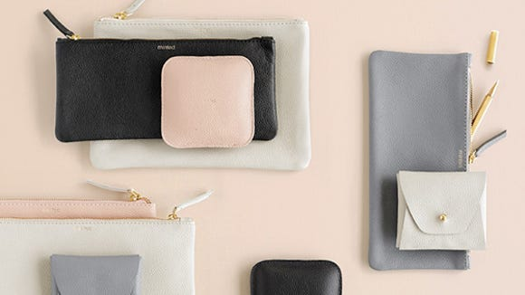 Minted leather goods