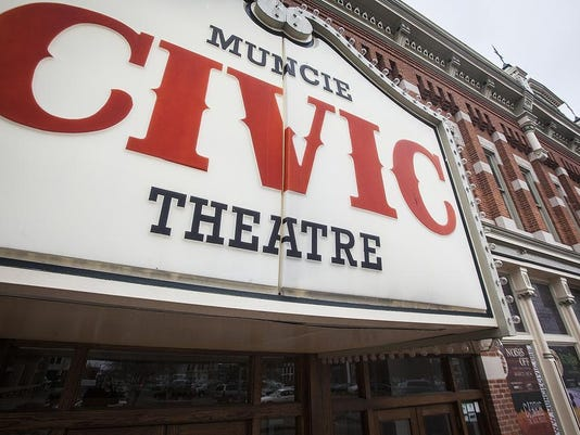 Muncie Civic Theatre sign front
