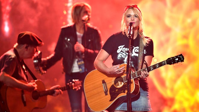 Miranda Lambert sings Keeper of the Flame as she rehearses for the 53RD Academy of Country Music Awards at the MGM Grand Garden Arena  
