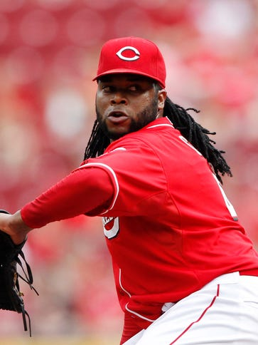 Johnny Cueto pitched two scoreless innings.