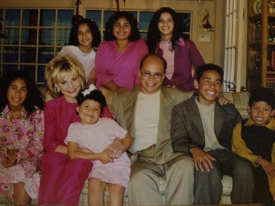 Jim and Lori Bakker with their family.