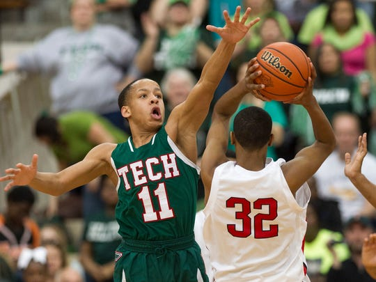 Tech junior guard C.J. Walker committed to Purdue this fall.
