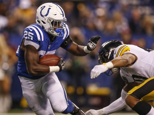 Colts running back Marlon Mack will lead a running-back-by-committee
