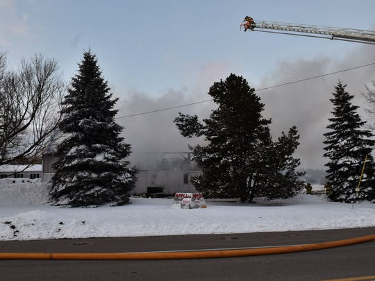 Fire destroyed a barn/storage facility on Egg Harbor Road in Sturgeon Bay late afternoon on Thursday.