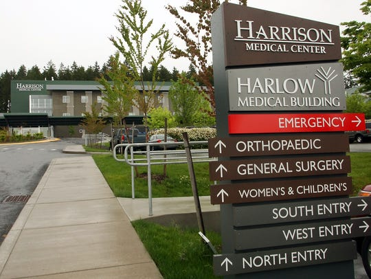 The first phase of construction at Harrison Medical Center includes a nine-story tower to hold acute-care beds. Work is expected to be completed in 2020.