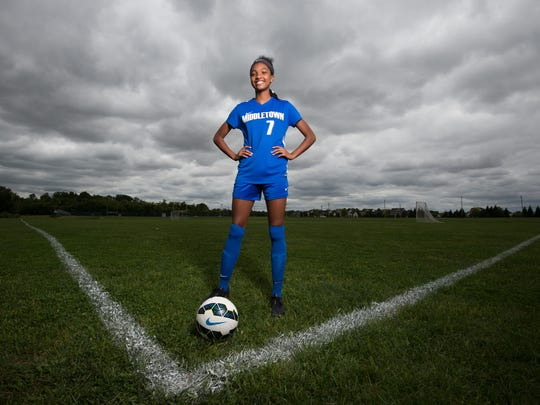 Alyssa Poarch, Middletown High School girls soccer player.
