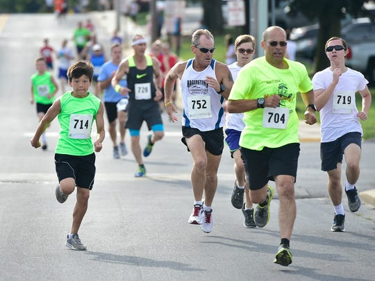 A file photo of the 14th Annual Tim & Susan Cook Memorial ChambersFest 1-Mile Race/Walk, which was held Saturday, July 8, 2017.