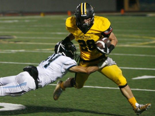 Noah Conboy stars at running back and linebacker for Ventura High.