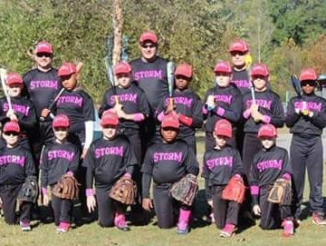 The Asheville Storm 10U baseball team.