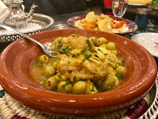 Chicken tajine at Casablanca.