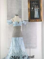 One of the gowns worn by Patricia Barnstable-Brown