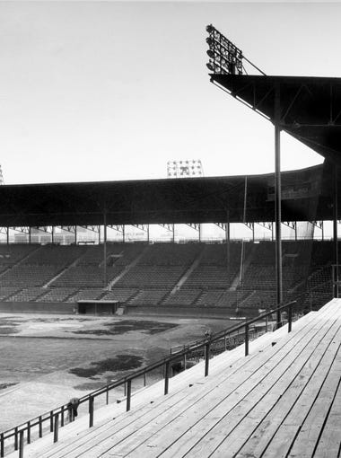 Sulphur Dell, the home of the Nashville Vols, sits April 12, 1947 as it waits for a new baseball season to begin.