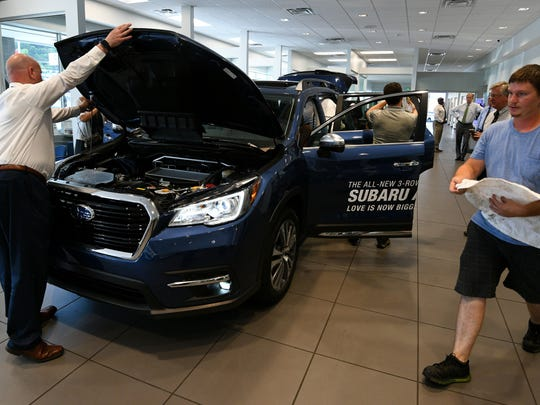 Grayson Subaru Hyundai, 8729 Kingston Pike, unveiled a new 2019 Subaru Ascent Wednesday, May 23, 2018 in their showroom.