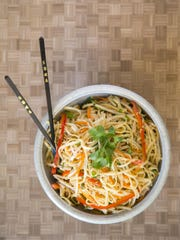 Sesame Noodles with Fresh Vegetables from Robin Miller.