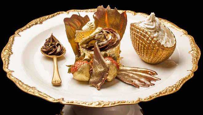 This is Bloomsbury's $1007 cupcake in the United Arab Emirates, the world's most expensive cupcake.
