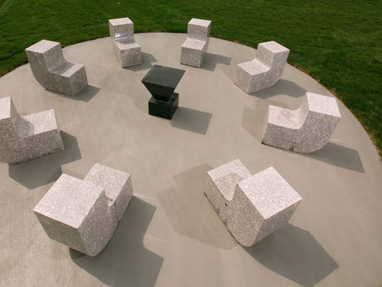 "Scott Burton's ""Seating for Eight"" and ""Cafe Table I"""