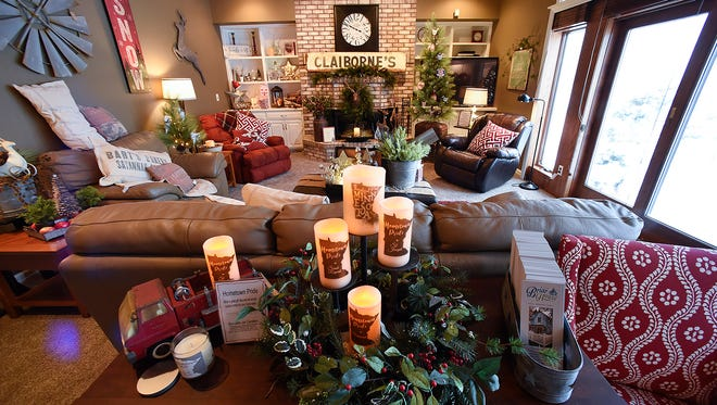 The decorated family room of the annual Zonta Christmas House Friday, Nov. 18, in St. Cloud.