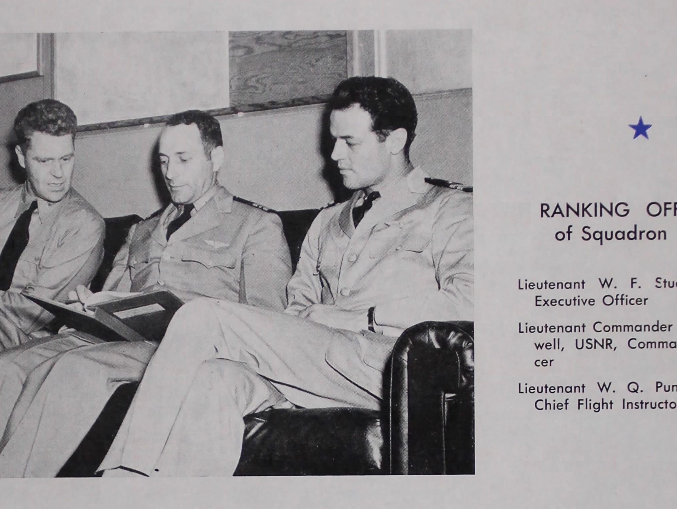 William Punnell (right) was a chief flight instructor