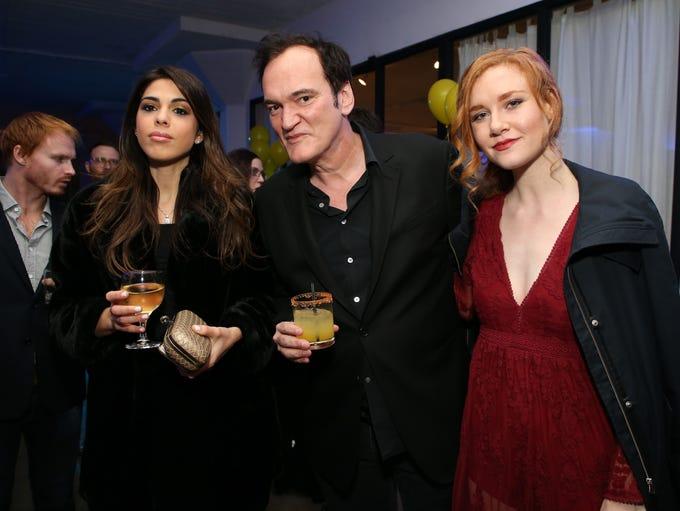 Daniela Pick, Quentin Tarantino and Madisen Beaty attend