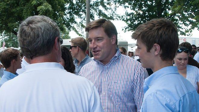 Jack Conway campaigns at Fancy Farm.