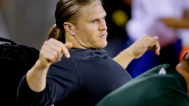 Green Bay Packers inside linebacker Clay Matthews missed Sunday's game due to a hamstring injury.