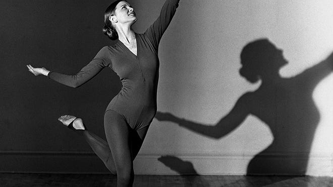This is a portrait of Everett High School dance instructor Karen Sprecher taken in 1973 when she was a member of the MSU dance group Orchesis.