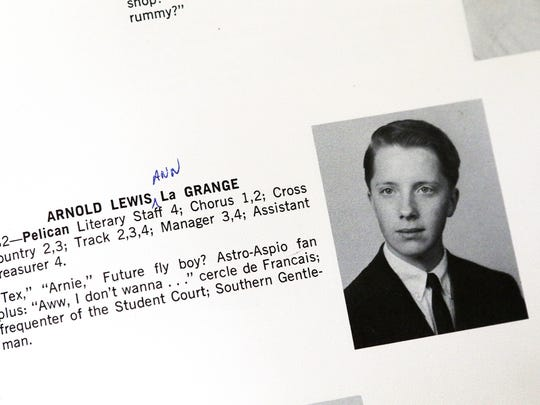 "Arnold LaGrange's entry in the 1965 Pelham (N.Y.) Memorial High School yearbook identified him as a ""Future fly boy?"" He enlisted in the Air Force at 17."