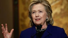 Hillary Clinton speaks at Georgetown University on Feb. 25 (Photo: Win McNamee, Getty Images)