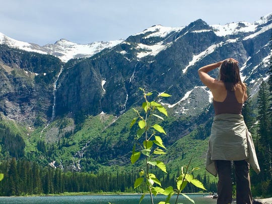 Connecting to nature at Glacier National Park, Montana.