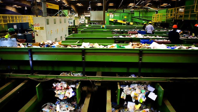 TFC Recycling in Chesapeake, Virginia uses sophisticated equipment to sort recyclable items, including from Accomack and Northampton counties.
