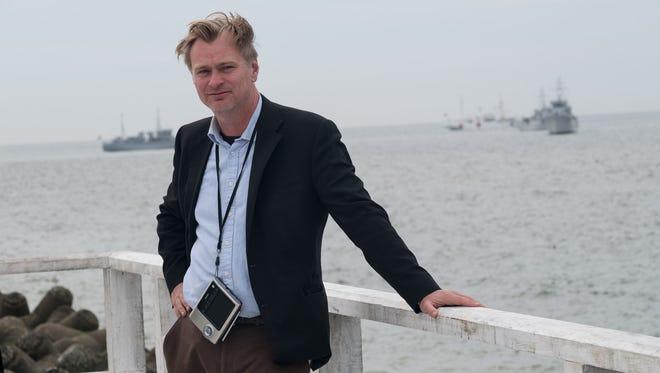 Filmmaker Christopher Nolan on the set of 'Dunkirk.'