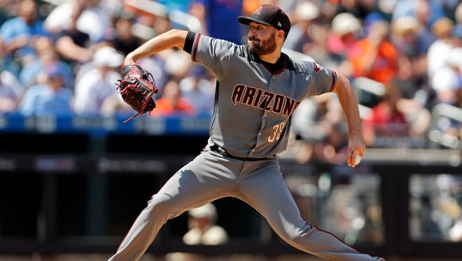 Arizona Diamondbacks pitcher Robbie Ray delivers a pitch during the fourth inning of a baseball game against the New York Mets on Thursday, Aug. 24, 2017, in New York. (AP Photo/Adam Hunger)