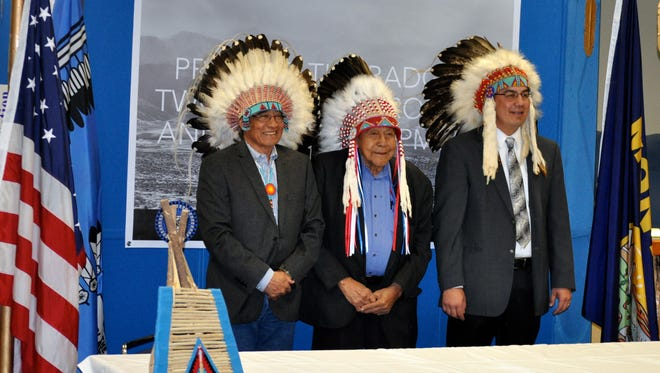 John Murray, Chief Earl Old Person and Tyson Running Wolf announced Wednesday a national campaign to cancel oil and gas leases in the Badger-Two Medicine area.
