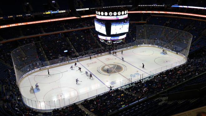 The Amerks played St. John's in the First Niagara Center in Buffalo.