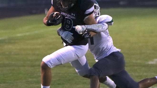 West Ottawa's Keegan Garcia scored his first career touchdown on Friday against Jenison.