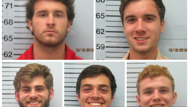 Top, L-R: Tucker Cole Steil, James Declan Basile Bottom: Austin Rice, Christian Guy,  Kyle Huges