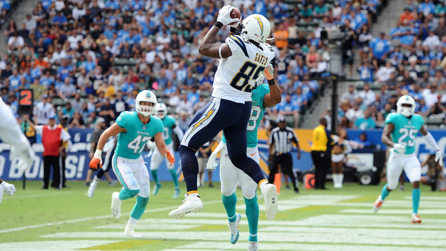 Antonio Gates be es NFL s all time TD leader at tight end