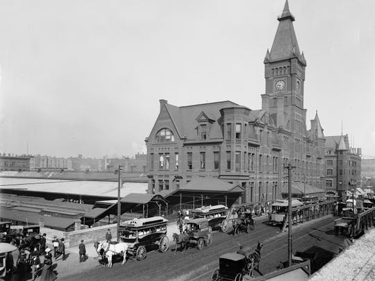 Wells Street Railroad Station, Chicago and North Western, circa 1900 in Chicago. The point of arrival for the Bickels in 1900.