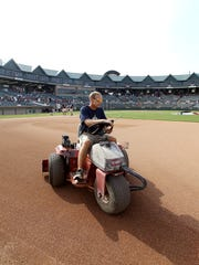 Dan Purner, head groundskeeper for the Somerset Patriots