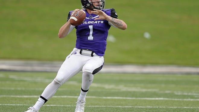 Thomas Metthe/Reporter-News Abilene Christian quarterback Dallas Sealey