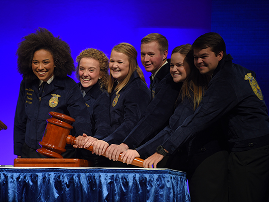 2017-18 National FFA Officer team (from left) President