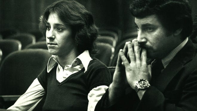 Donna Parrish, William Dillon's girlfriend at the time of his 1981 trial, and Thom Fair.