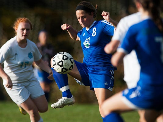 Colchester vs. Mount Mansfield girls soccer 10/14/14