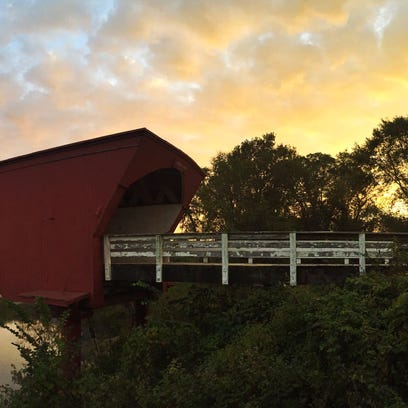 The Roseman Bridge in Madison County is one of the