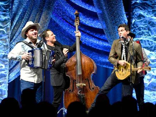 Old Crow Medicine Show performs at the 2017 SESAC Music Awards on Nov. 5, 2017, in Nashville.