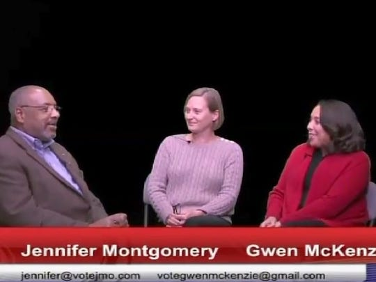"Hubert Smith interviews Jennifer Montgomery and Gwen McKenzie on ""One on One with Hubert Smith""  after call."