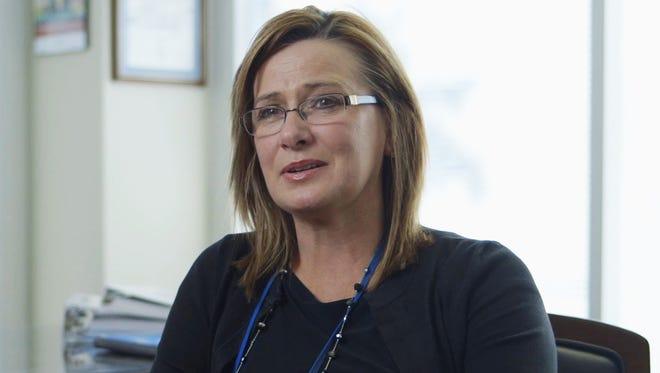 BlueCross account manager Karen Tokarz in the company's Nashville office.